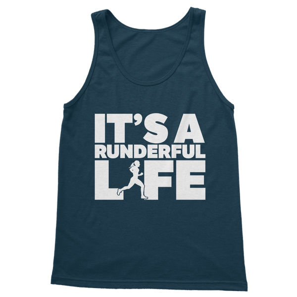 It's A Runderful Life Female Runner Classic Adult Tank Top