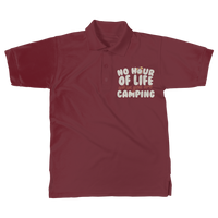No Hour of Life is Wasted With A Camping Classic Adult Polo Shirt