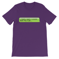 I Really Wish I Could Text my Cat Classic Kids T-Shirt