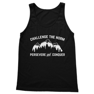 Challenge The Norm White Logo Classic Adult Tank Top