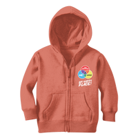 Wine is My Happy Place Classic Kids Zip Hoodie