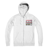 Weekend Weather Sunny With a Chance of Biking? Premium Adult Zip Hoodie