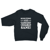 Scouting And Camping Keeps Me Sane Classic Adult Sweatshirt