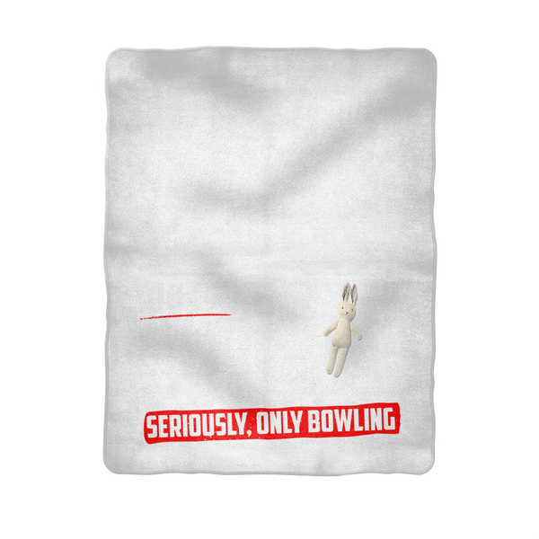 If I Look Busy Don't Disturb Me Unless You Plan To Take Me Bowling Seriously. Only Bowling Sublimation Baby Blanket