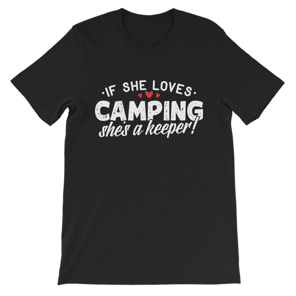 If She Loves Camping She's a Keeper! Premium Kids T-Shirt