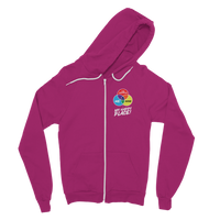 Wine is My Happy Place Classic Adult Zip Hoodie