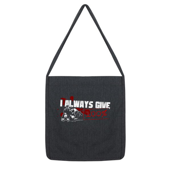 I Always Give 100% Murderball Wheelchair Rugby Classic Tote Bag