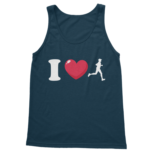 I Love Running Male Runner Classic Adult Tank Top