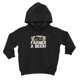 Can Someone Get This Farmer a Beer! Classic Kids Hoodie