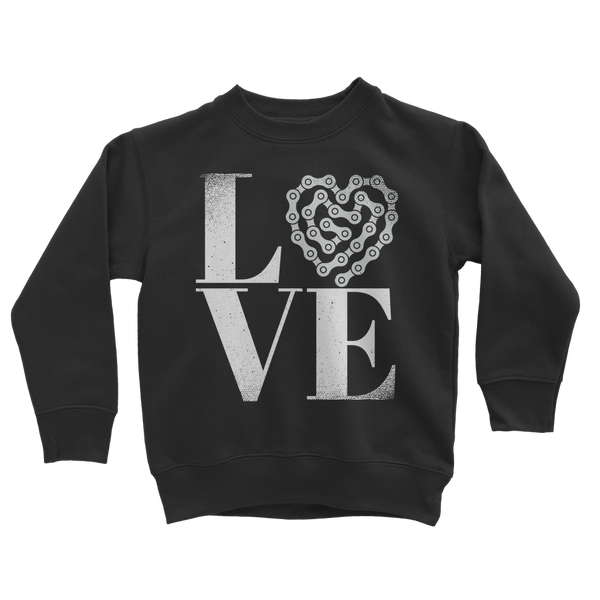 Love Bike Classic Kids Sweatshirt