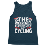 The Weekends Were Made For Cycling Classic Adult Tank Top