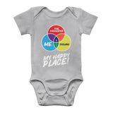 Cycling is My Happy Place Classic Baby Onesie Bodysuit