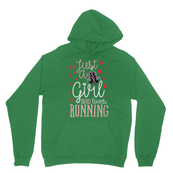 Just A Girl Who Love Running Classic Adult Hoodie