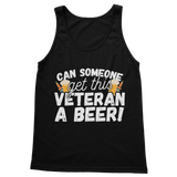 Can Someone Get This Veteran a Beer! Classic Women's Tank Top