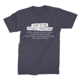 Some Of My Favorite Things Are Cycling Premium Jersey Men's T-Shirt