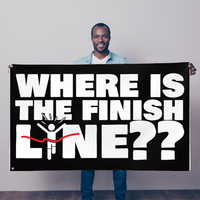 Where Is The Finish Line? Sublimation Flag
