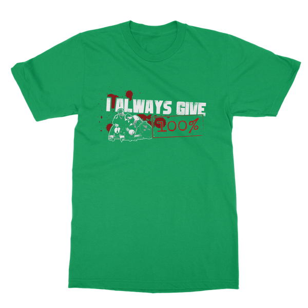 I Always Give 100% Murderball Wheelchair Rugby Classic Adult T-Shirt