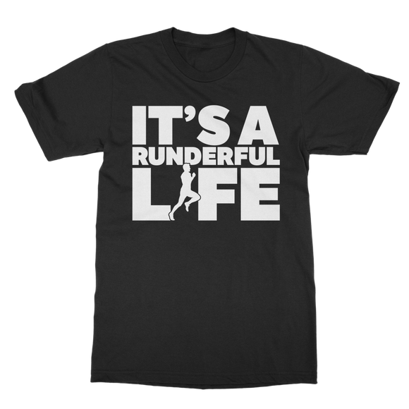 It's A Runderful Life Male Runner Classic Adult T-Shirt