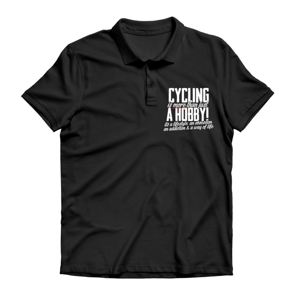 Cycling is More Than Just a Hobby Premium Adult Polo Shirt