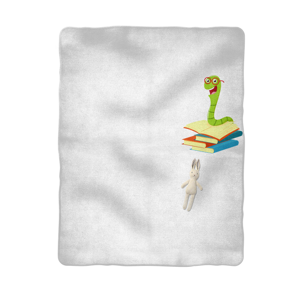 Professional Book Worm Sublimation Baby Blanket