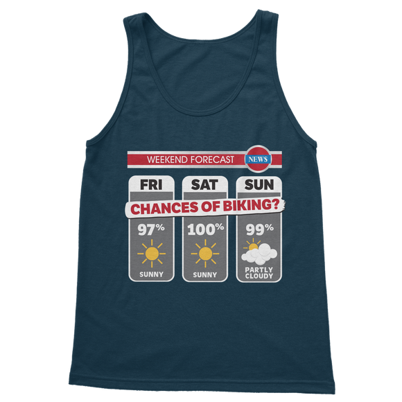Weekend Weather Sunny With a Chance of Biking? Classic Women's Tank Top