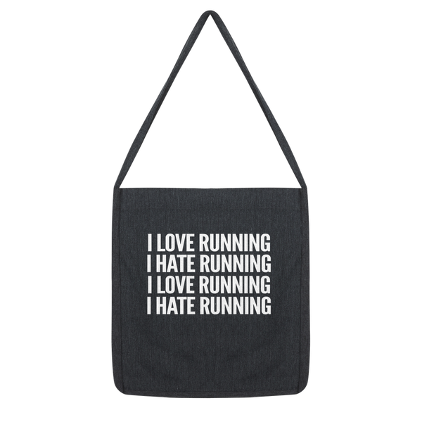 I Love Running I Hate Running Classic Tote Bag
