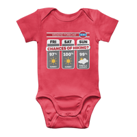Weekend Weather Sunny With a Chance of Hiking? Classic Baby Onesie Bodysuit