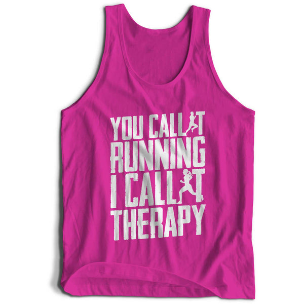 Running I Call It Therapy Girlie Cool Vest