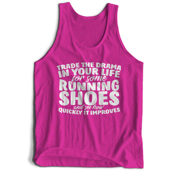 Trade The Drama For Running Girlie Cool Vest