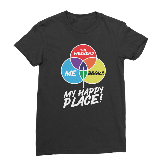 Books is My Happy Place Premium Jersey Women's T-Shirt