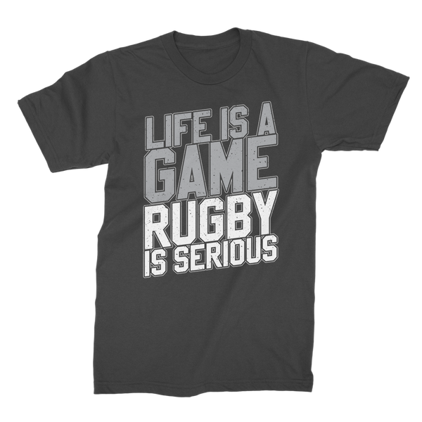 Life is a Game Rugby is Serious Premium Jersey Men's T-Shirt