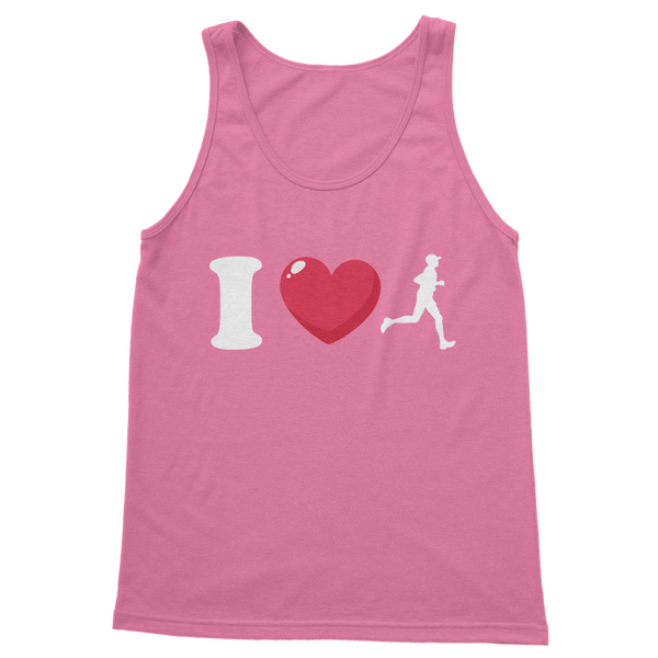 I Love Running Male Runner Classic Women's Tank Top