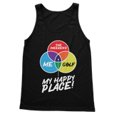 Golf is My Happy Place Classic Adult Tank Top