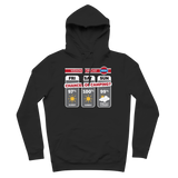 Weekend Weather Sunny With a Chance of Camping? Premium Adult Hoodie