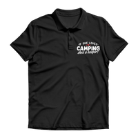If She Loves Camping She's a Keeper! Premium Adult Polo Shirt