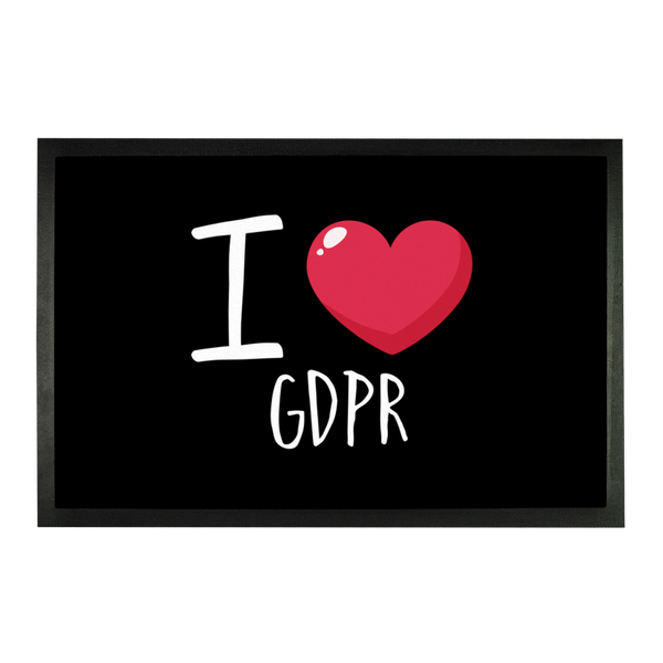 I Love GDPR Sublimation Doormat