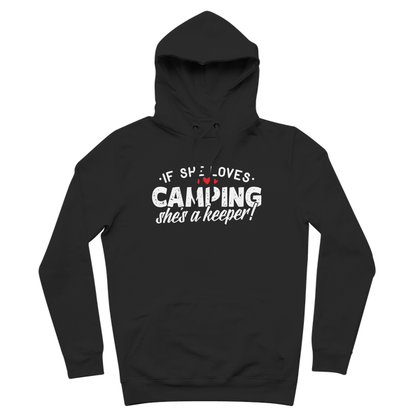 If She Loves Camping She's a Keeper! Premium Adult Hoodie