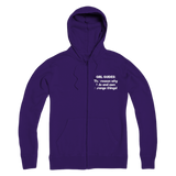 Girl Guides: The Reason Why I Do And Own Strange Things! Premium Adult Zip Hoodie