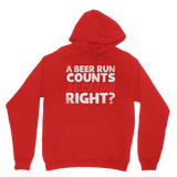 A Beer Run Counts As Cardio Right? Classic Adult Hoodie