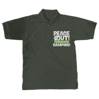 Peace Out This Guy is Going Camping! Classic Adult Polo Shirt