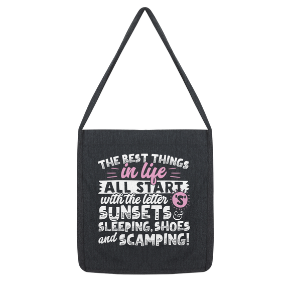 All The Best Things in Life Start With The Letter S - Camping T-Shirt Classic Tote Bag