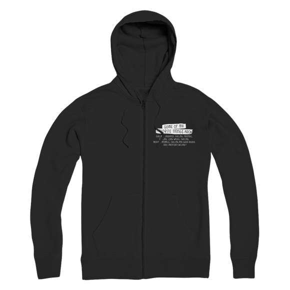 Some Of My Favorite Things Are Cycling Premium Adult Zip Hoodie
