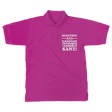 Scouting And Camping Keeps Me Sane Classic Women's Polo Shirt