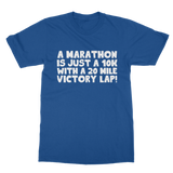 Marathon 10K With A 20 Mile Victory Lap Classic Women's Polo Shirt