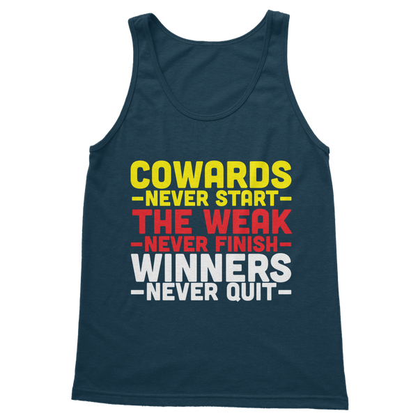 Winners Never Quit Classic Adult Tank Top