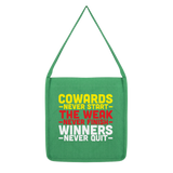 Winners Never Quit Classic Tote Bag