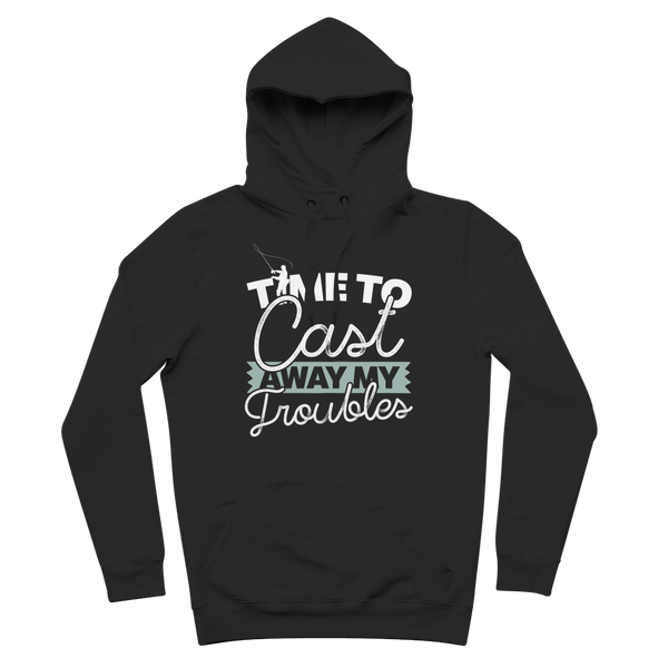 Time To Cast Away My Troubles Premium Adult Hoodie