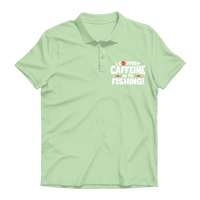 I Convert Caffeine into Fishing Premium Adult Polo Shirt