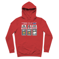 Weekend Weather Sunny With a Chance of Tacos? Premium Adult Hoodie