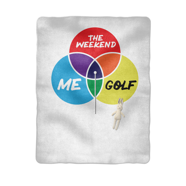 Golf is My Happy Place Sublimation Baby Blanket
